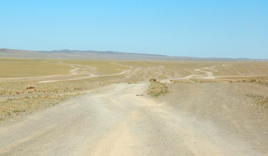 Snelwegen door Mongolië